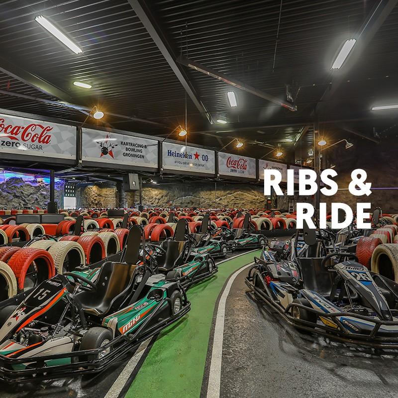 Korting Ribs & Ride bij Kartracing & Bowling Groningen