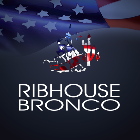Ribhouse Bronco Logo