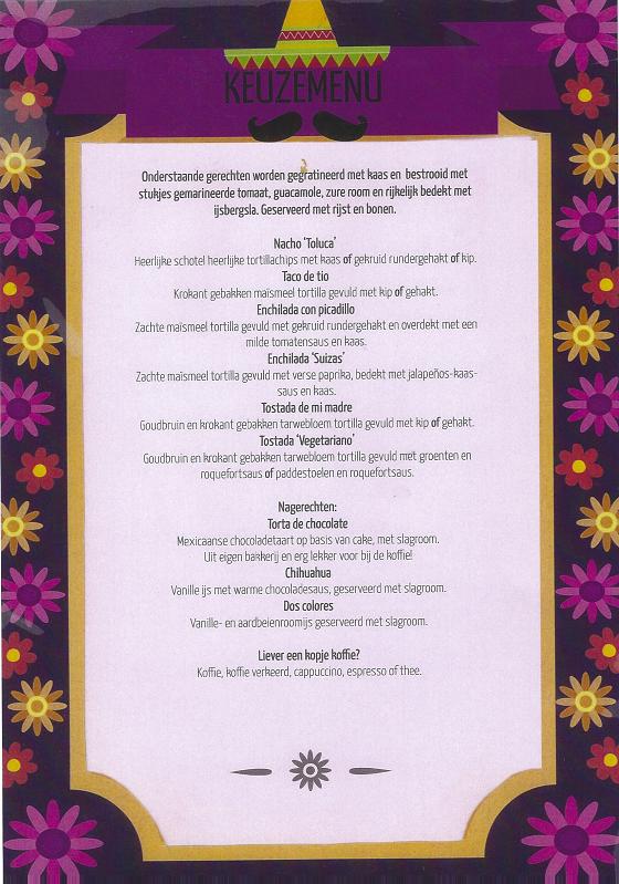 Menukaart 2020 Cantina Mexicana Het Laatste Tafeltje