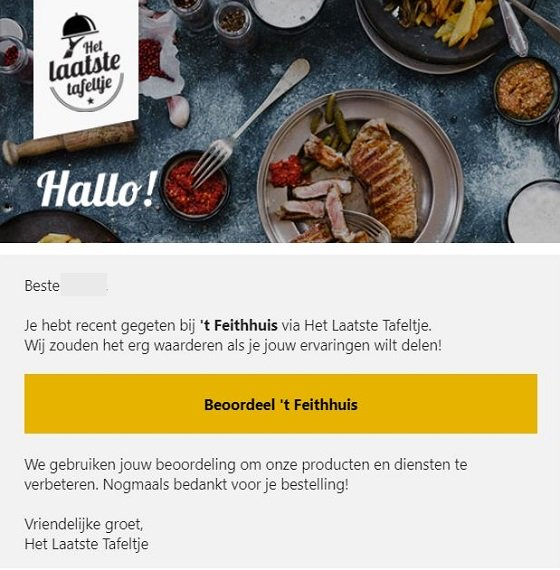 Reviews Het Laatste Tafeltje
