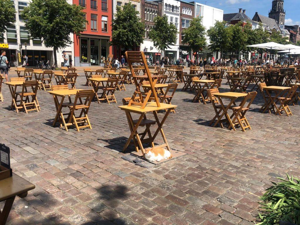 Terras Vismarkt foto @ Wim van Pronk